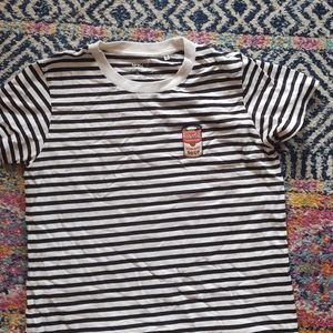 UniQlo Warhol Soup Can Patch Stripe Tee